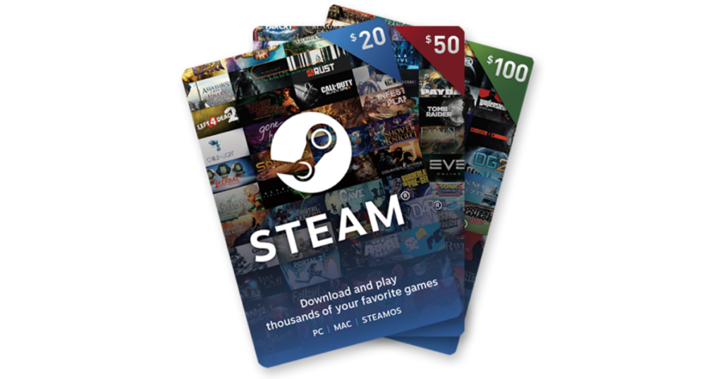 steam gaming gift card